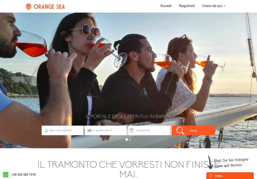 Orange Sea Effect Start-up Barche in affitto