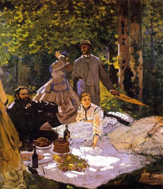 Monet le dejeuner sur l'herbe Pic Nic
